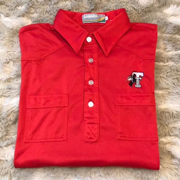 Vintage Other - VINTAGE TEXAS TECH WESTERN POLO
